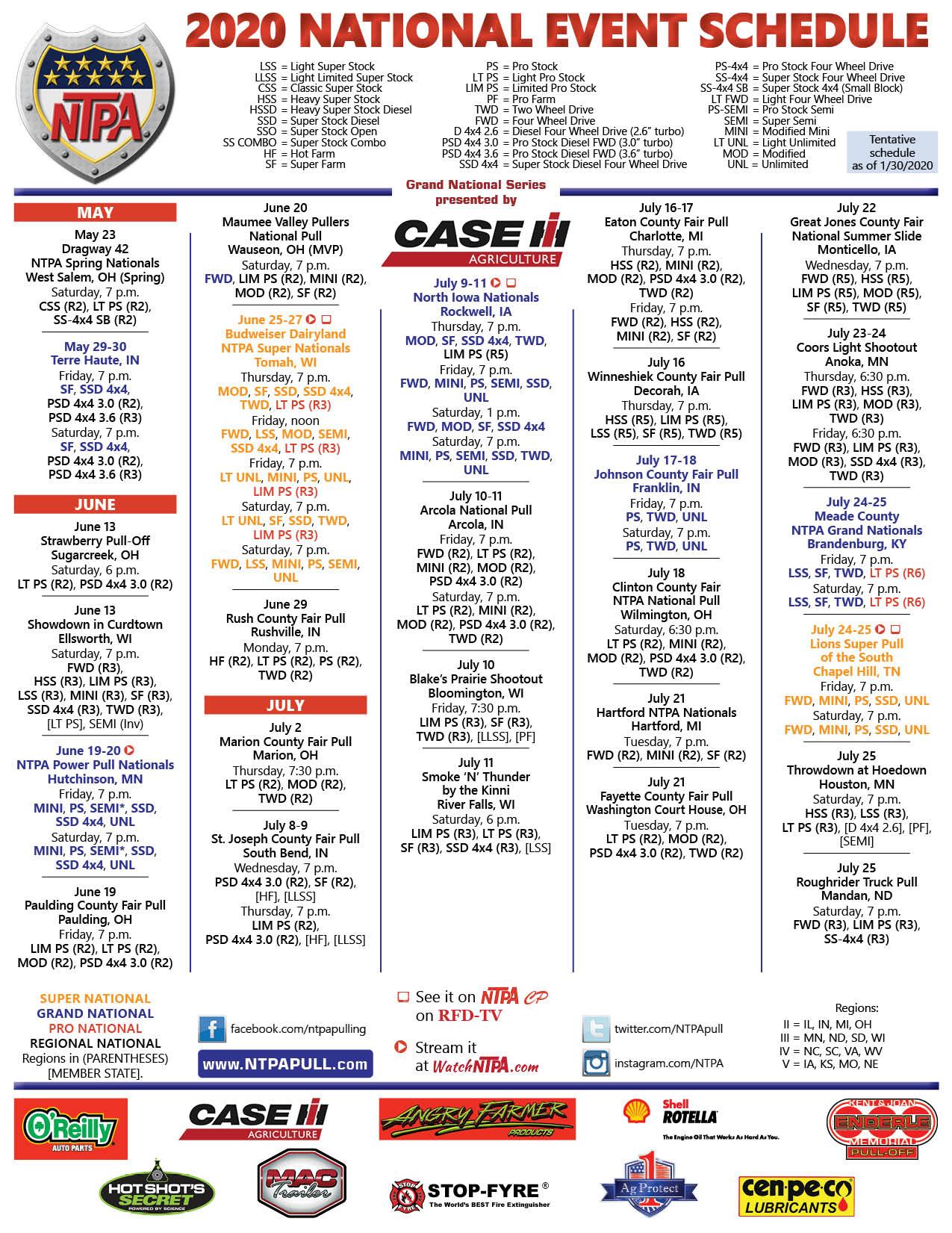 NTPA 2020 Schedule Web